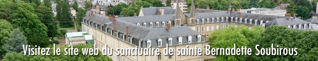 Site web du sanctuaire de sainte Bernadette Soubirous